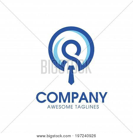simply icon leadership and Recruitment agency logo concept, staff choice logo