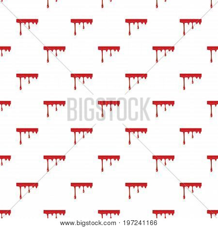 Flowing drop of blood pattern seamless repeat in cartoon style vector illustration