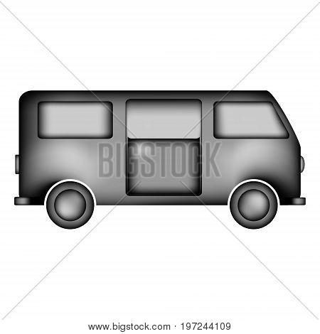 Minibus icon sign on white background. Vector illustration.