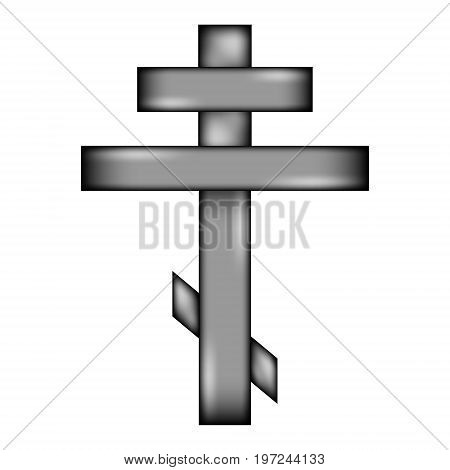 Religious orthodox cross icon sign on white background. Vector illustration.