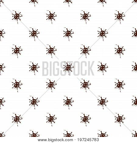 Small spot of chocolate pattern seamless repeat in cartoon style vector illustration