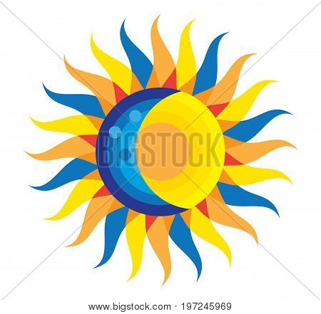 Total Solar Eclipse Icon August 21, 2017