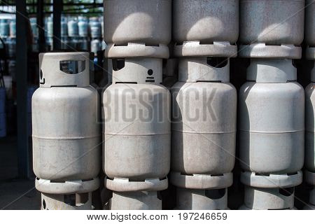 Stack Of Old Gas Containers, Gas Tank Cylinder Balloon Recycle