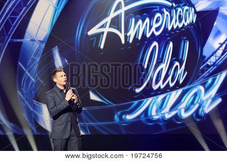 LOS ANGELES - SEP 22:  Ryan Seacrest at the American Idol Season 10 Judges Announcement at Forum on September 22, 2010 in Ingelwood, CA
