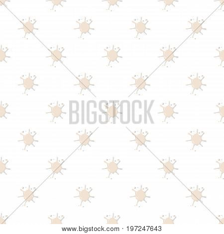 Milk spatter pattern seamless repeat in cartoon style vector illustration