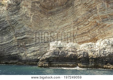 fragment of the mountain. Psira island in Crete, Greece