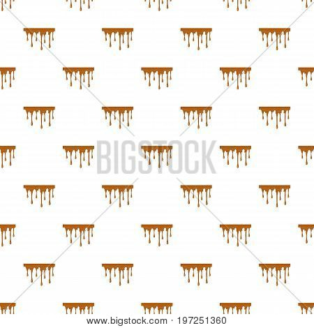 Flowing caramel pattern seamless repeat in cartoon style vector illustration