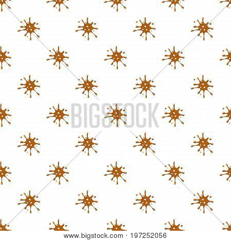 Spot of brown caramel pattern seamless repeat in cartoon style vector illustration