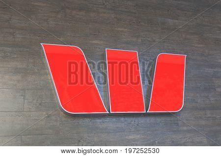 BRISBANE AUSTRALIA - JULY 9, 2017: Westpack bank Australia. Westpack is one of the four largest bank in Australia.