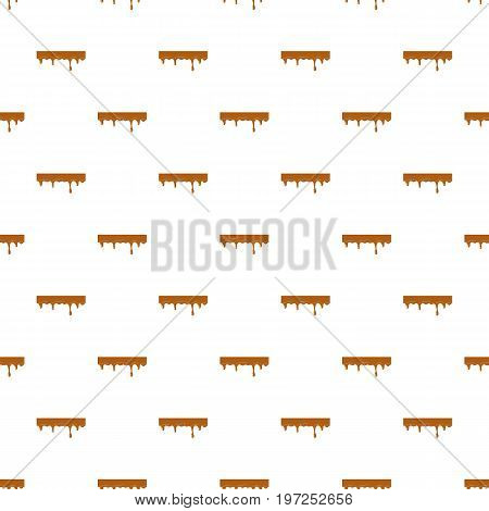 Dripping down caramel pattern seamless repeat in cartoon style vector illustration