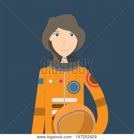 Astronaut Character | set of vector character illustration use for human, profession, business, marketing and much more.The set can be used for several purposes like: websites, print templates, presentation templates, and promotional materials.