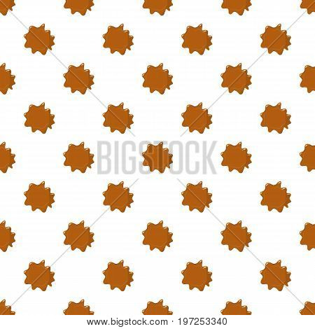 Brown caramel pattern seamless repeat in cartoon style vector illustration