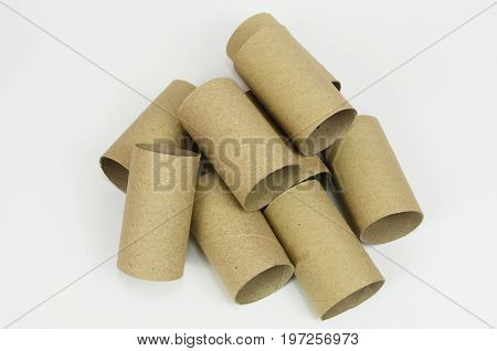 The core Brown for tissue paper isolated on white background.