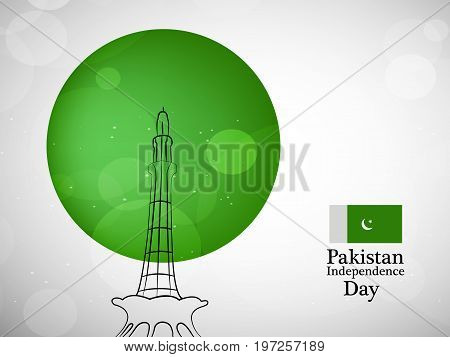 illustration of Pakistan Independence day background with Pakistan Independence day text