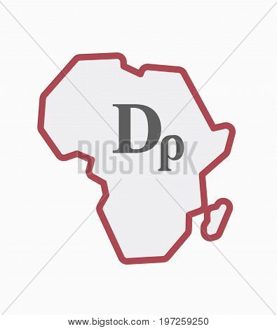 Isolated Africa Map With A Drachma Currency Sign