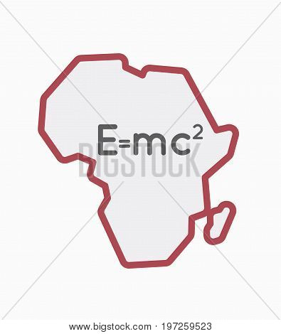 Isolated Africa Map With The Theory Of Relativity Formula