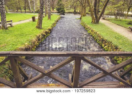 Beginning River Bosna At Nature Park Vrelo Bosne 2