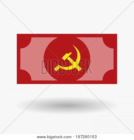 Isolated Bank Note With  The Communist Symbol