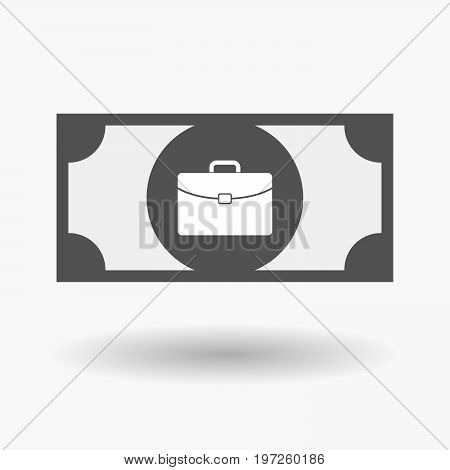 Isolated Bank Note With  A Briefcase