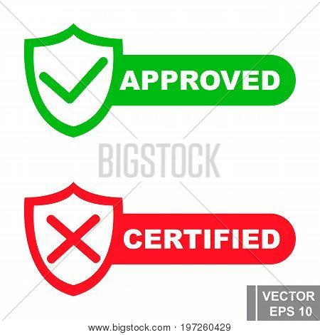 Approved. Checking. The Icon. Test. Isolated On White Background. For Your Design.