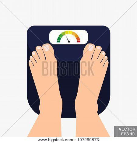 Libra. Proper Nutrition. Diet. Weigh. Flat Illustration. For Your Design