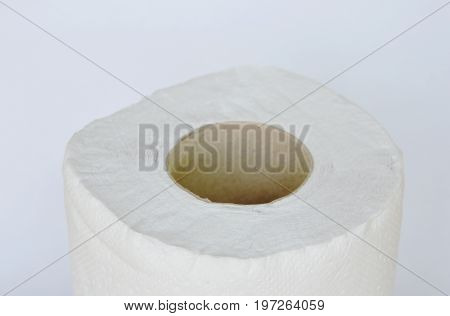 tissue paper roll on the white background