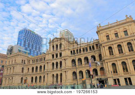 BRISBANE AUSTRALIA - JULY 9, 2017: Unidentified people visit  Treasury Casino in Brisbane.