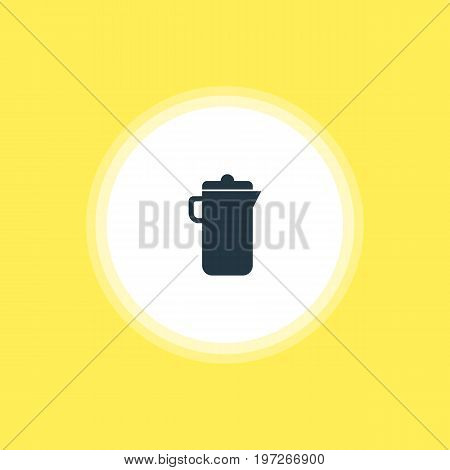 Beautiful Restaurant Element Also Can Be Used As Jug  Element.  Vector Illustration Of Carafe Icon.
