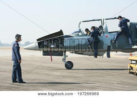 Technical Team  Of L-39 Albatros Of Royal Thai Air Force.