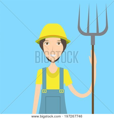 Farmer Character | set of vector character illustration use for human, profession, business, marketing and much more.The set can be used for several purposes like: websites, print templates, presentation templates, and promotional materials.
