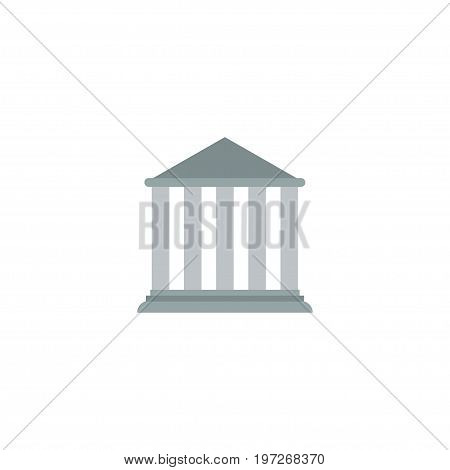 Flat Icon Court Element. Vector Illustration Of Flat Icon Building Isolated On Clean Background