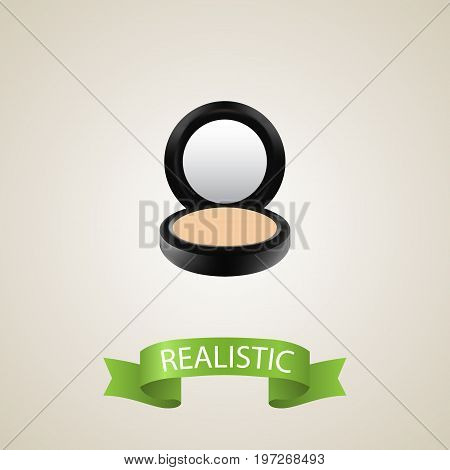 Realistic Powder Element. Vector Illustration Of Realistic Blusher Isolated On Clean Background