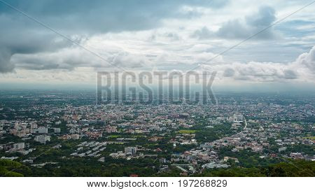 chiang mai cityscape at view point Thailand.