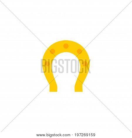 Flat Icon Horseshoe Element. Vector Illustration Of Flat Icon Talisman Isolated On Clean Background