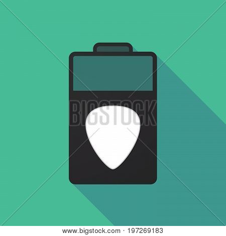 Long Shadow Battery With A Plectrum