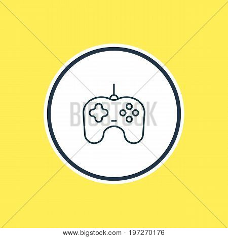 Beautiful Hardware Element Also Can Be Used As Joypad Element.  Vector Illustration Of Gamepad Outline.