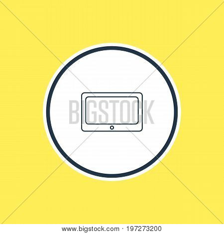 Beautiful Laptop Element Also Can Be Used As Tablet Element.  Vector Illustration Of Smartphone Outline.