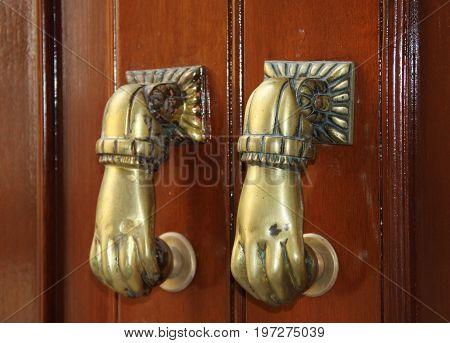 Old town wolking. Spain Andalusia Kadiz. Spanish doors