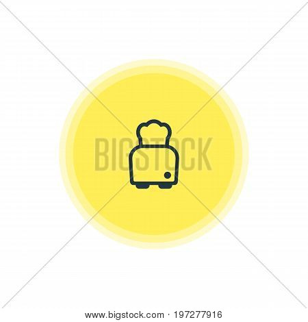 Beautiful Restaurant Element Also Can Be Used As Bread Element.  Vector Illustration Of Toaster Icon.