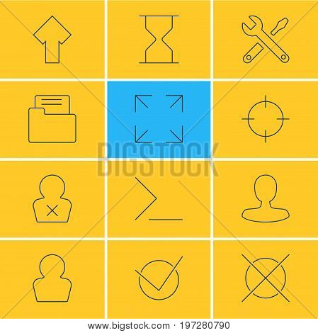 Editable Pack Of Dossier, Man Member, Yes And Other Elements.  Vector Illustration Of 12 Interface Icons.