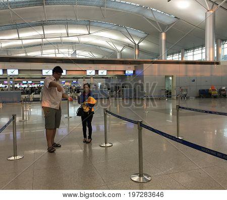 Tan Son Nhat Airport In Saigon, Vietnam
