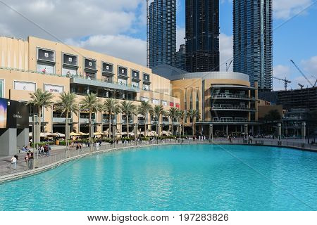DUBAI, UNITED ARAB EMIRATES - DECEMBER 10, 2016: The Dubai Mall, United Arab Emirates. It is the world's largest shopping, entertainment and leisure destination with more than 1,200 retail outlets.