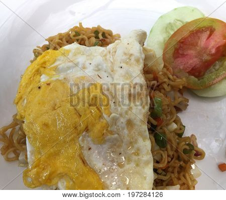 Fried Noodle With Eggs