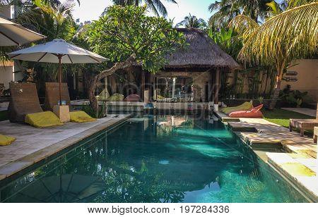 Swimming Pool Of Resort In Lombok, Indonesia