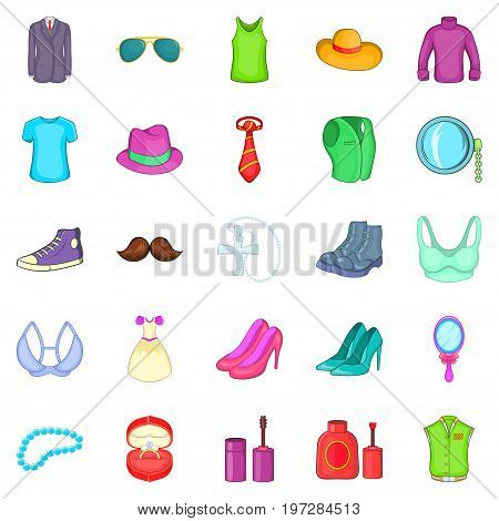 Adornment icons set. Cartoon set of 25 adornment icons for web isolated on white background