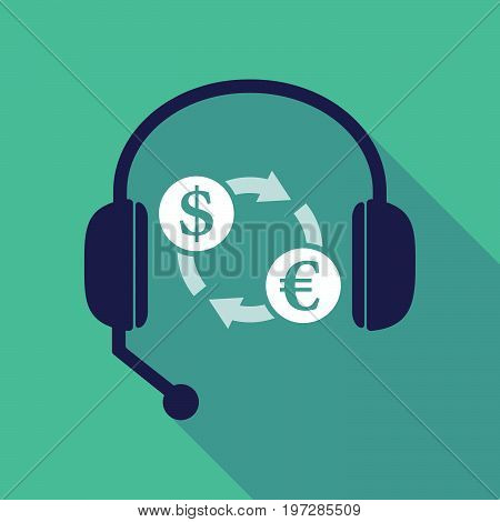 Long Shadow  Headset With A Dollar Euro Exchange Sign