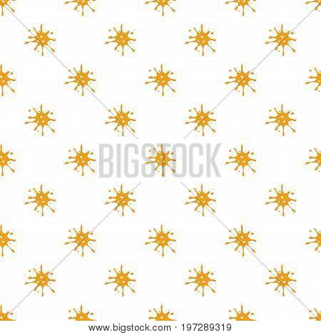 Spot of orange honey pattern seamless repeat in cartoon style vector illustration