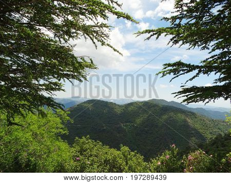 high mountains landscape troodos on Cyprus island