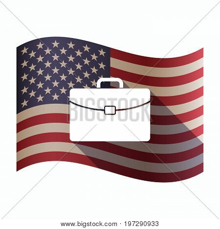 Isolated  Usa Flag With  A Briefcase