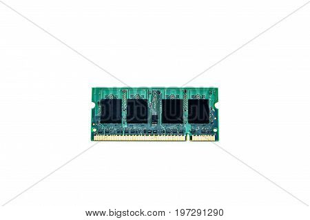 RAM memory module isolated on white background